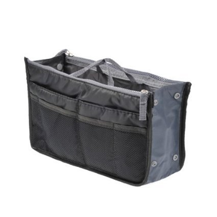 Caomoa Handtaschen-Beutel-Beutel im Beutel-Organisator-Einsatz-Organisator-saubere Spielraum-kosmetische Tasche Black