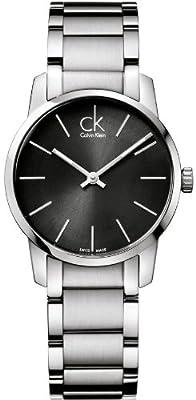 Calvin Klein Calvin Klein City Lady K2G23161 - Reloj analógico de Cuarzo para Mujer, Correa de Acero Inoxidable Color Plateado de Calvin Klein