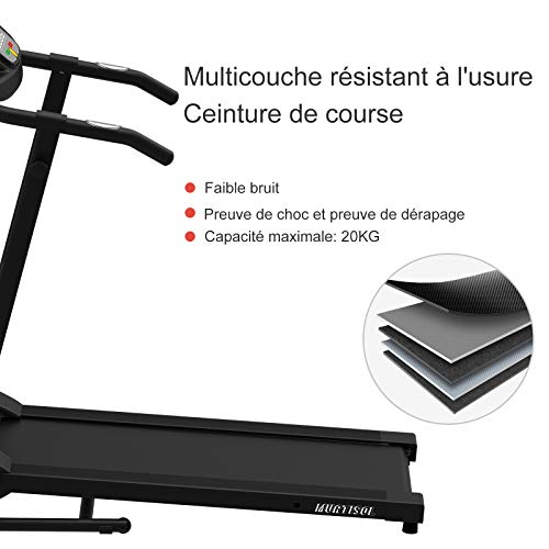 Murtisol Tapis de Course /électronique 1.0HP Laufen Machine V/élo d/'Entra/înement Silencieux avec /écran LCD Support IPAD/…