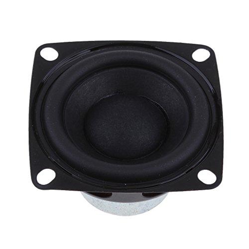 IPOTCH 10W 4 Ohm Metall Interner Magnet Lautsprecher Speaker mit gummierten Kanten, 52mm x 30mm, Hohe Qualität
