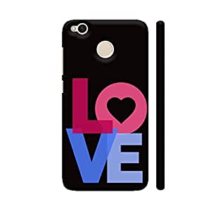 Colorpur Xiaomi Redmi 4 Cover - Love Typography Printed Back Case