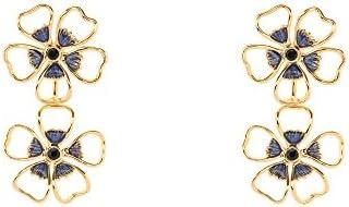 Ted Baker Damen Ohrring Blumen Messing Rundschliff Blau Kristall