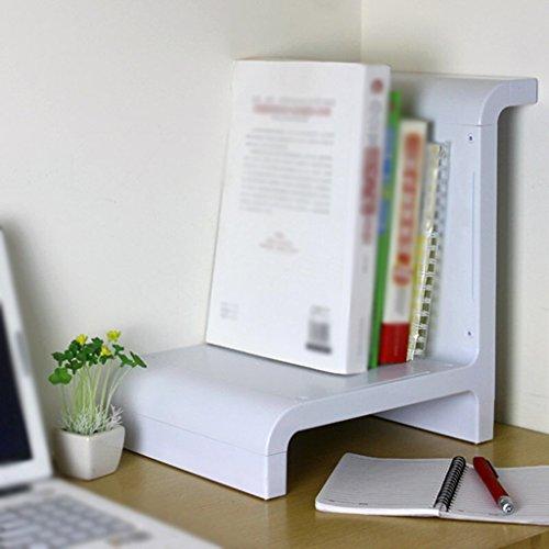 DFHHG® Estantería de Libro Estanterías de Escritorio para Escritorio 29 * 24 * 34.5 Cm Estantería de Decoración para Hogar Blanco durable