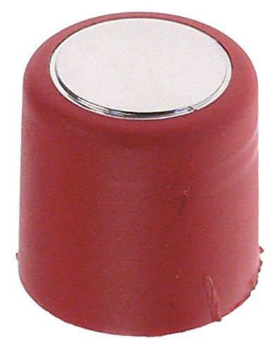 Faema Drucktaste für Espressomaschine rot/chrom ø 20mm Höhe 21mm