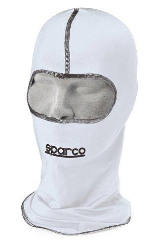 SPARCO Kart Motorrad Sturmhaube - Sturmhaube aus Acrylic schwarz oder weiß (weiß) -