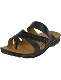 BRV Men's Black Outdoor Sandals - 10 UK - B075D3C6J6