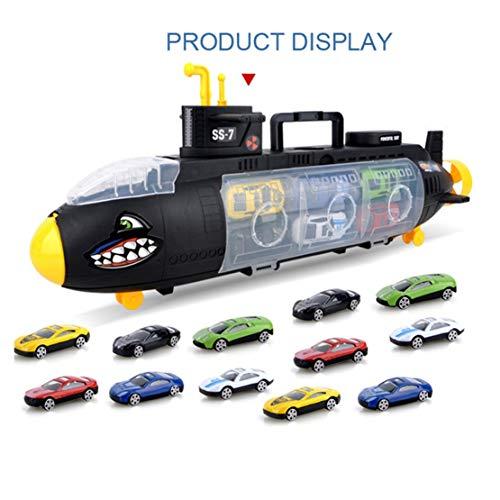happy event U-Boot | Legierung Auto | Bildung Spielzeug Modell Szenen Set | Tragbare Aufbewahrungsbox für Kinder