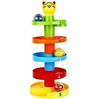 Preisvergleich für Baby-lustiges Spielzeug Kinder Baby Pädagogisches Puzzle Rolling Ball Kleinkinder Multi Ball Set Spielzeug Wirbel Ball Rampe Ball Drop Spielzeug