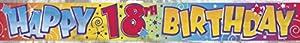 12pies Foil Feliz cumpleaños Banner