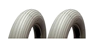 MOBILITY SCOOTER PUNCTURE PROOF TYRES 300-4 260 x 85 - FRONT TYRES X 2 - SOLID TYRES