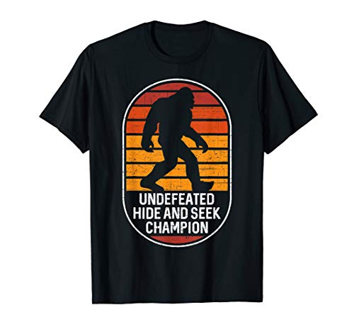 Bigfoot Undefeated Hide And Seek Champion T-Shirt (Peoples T-shirt Champ)