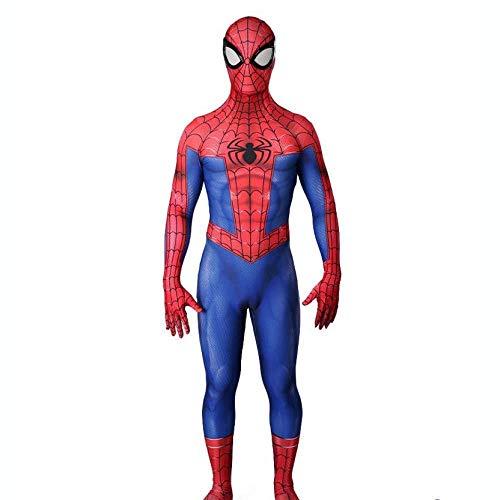 JUFENG Camouflage Spider-Man Siamesische Strumpfhose Cosplay Halloween Charakter Leistung Kostüm (Kopfbedeckungen Können Nicht Getrennt Werden),OneColor-Adult-XXXL (Frauen Charakter-kostüme Für)