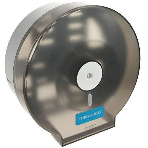 PrimeMatik - Toilettenpapier Spender und Halter. Schwarz Industrie Rollenhalter für Toiletten
