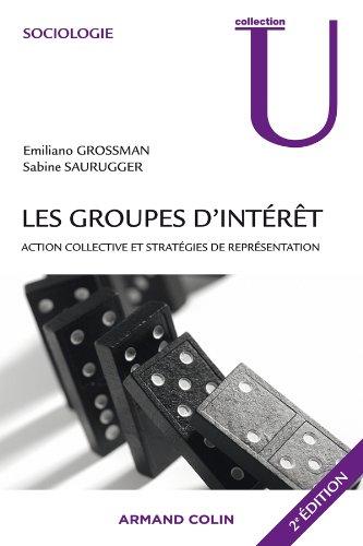 Les groupes d'intérêt: Action collective et stratégies de représentation