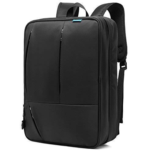 Coolbell Convertible Messenger Bag Mochila Bolsa de hombro ordenador portátil funda bolso negocio maletín multifuncional viaje mochila para portátil de 17,3(para hombres/mujeres negro negro 17.3 Inches