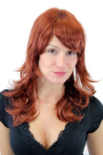 Perruque de qualité pour femme, dégradé, longue rousse GFW1000-130