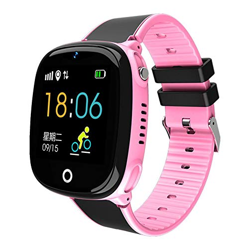 TOYBO Handyuhr der Kinder GPS, die intelligente Uhr des Uhrkartenkamera-Studenten - Geburtstagsgeschenk in Position bringt-Pink -