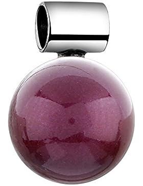 Nenalina Anhänger in 925 Sterling Silber mit roter Swarovski-Perle für Damen Kette oder Halskette 846504-198
