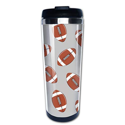 College Football Grey Multi Insulated Stainless Steel Travel Mug 14 oz Classic Lowball Tumbler with Flip Lid