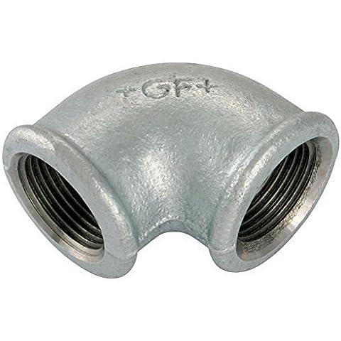 FISCHER - 1,91 cm x1/GEORGE 5,08 cm BSP FEM REDU codo GALV GF90G 11-01073