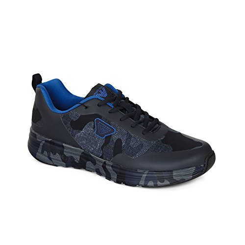 Armani Jeans chaussures baskets sneakers homme blu Blu