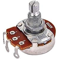 SUPVOX Potenciómetro Potenciómetro de bajo efecto de estrías con eje dividido Bajo eléctrico Tonos de volumen y tono Conmutador de audio Potenciómetro B500k