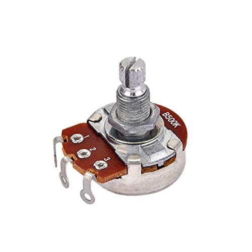 SUPVOX B500k Potentiometer Lange Gerändelte Split Shaft E-bass Volume Tone Töpfe Audio Taper Switch Potentiometer B500k Potentiometer