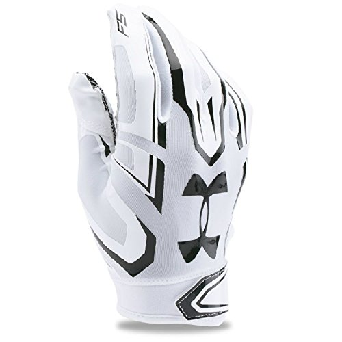 Under Armour American Football Receiver Handschuh F5 , weiß-schwarz m