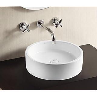 Art of Baan - Design Waschbecken Rund 405x405x130mm in weiß, mit Lotus Effekt - Aufsatzwaschbecken Waschschale (Tebas)