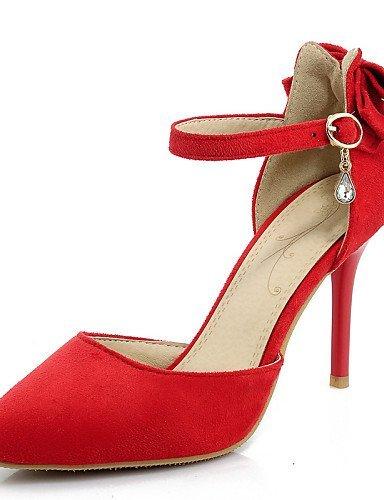 ShangYi Damenschuhe - High Heels - Hochzeit / Kleid / Party & Festivität - Stoff - Stöckelabsatz - Absätze / Spitzschuh - Schwarz / Rot / Grau Red
