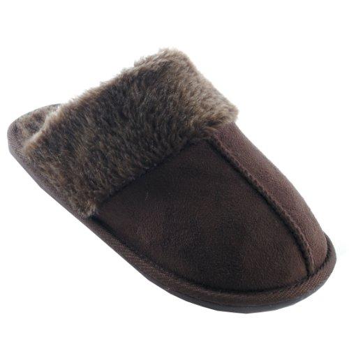 Classiche Pantofole Invernali - Donna Cioccolato