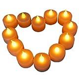 Profiwelten - Pack de 48 velas LED, funcionan con pilas de boton