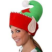 I Love Fancy Dress ilfd7170 Deluxe elfo cappello con orecchie e bianco  Natale Pon Pon ( 268455789de4