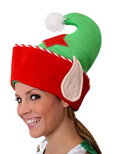 Mütze Kostüm Olaf - ILOVEFANCYDRESS SCHNEEMANN MÜTZE MIT Langen Ohren KLAPPEN UND 2 KLEINEN ROTEN GLÖCKCHEN - ERHALTBAR IN DER STÜCKZAHL VON :: 1 MÜTZE