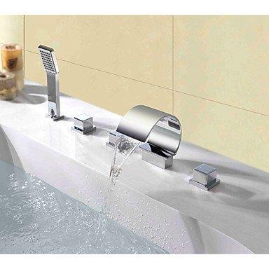 AA Rubinetto,Piattaforma contemporanea pubblicato tripla cascata spray maniglia rubinetto del bagno con doccia