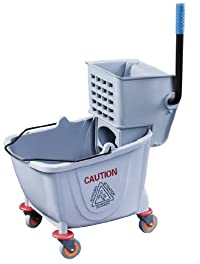 New Star Commercial Mop Bucket and Wringer, 36-Quart, Grey