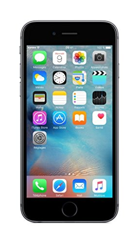 Apple FKQJ2X/A Apple Iphone 6S 16GB Space Gray CPO Enchufe EU Gris (Ricondizionato Certificato)