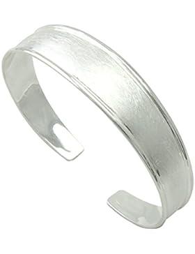 SKIELKA DESIGNSCHMUCK Armreif 15 mm breit Silber Goldschmiedearbeit (Sterlingsilber 925) - Silber Armband - Armspange