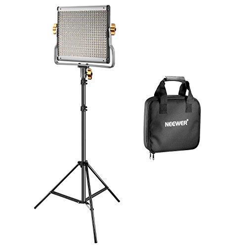 Neewer LED Licht verstellbar zweifarbig und U-Montage aus robustem Metall mit LCD-DisplayPanel für Fotografie Video Drehung (480 LED Set I) -