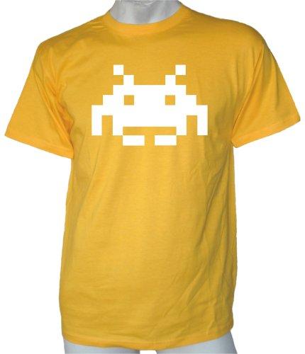 Space Invader T-shirt Gelb