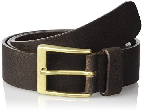 Lee Textured Belt, Cintura Uomo, Marrone (Dark Brown), 105 cm (Taglia Produttore: 105)