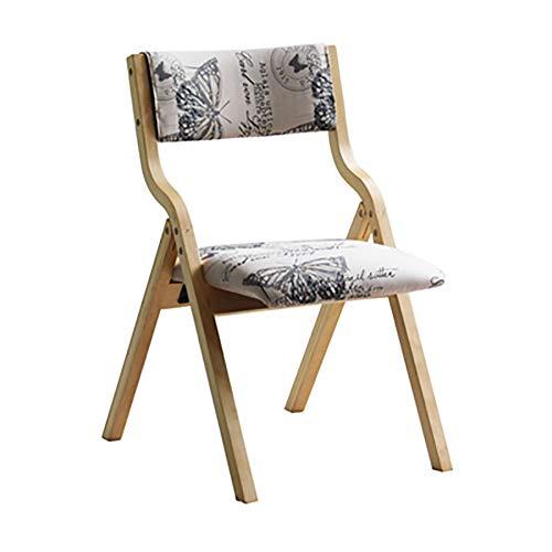 Esszimmerstühle YXX Holz Stoff Esszimmer Side Chair, Outdoor Klapparmlehne Rückenstühle für...
