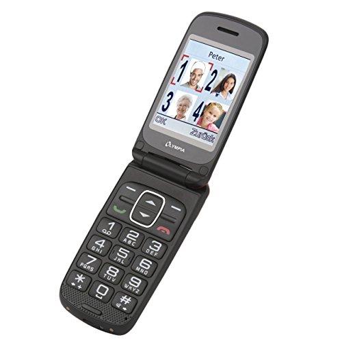 OLYMPIA Primus rot Komfort-Mobiltelefon mit Großtasten und Farb-LC-Display 8GB Speicher -