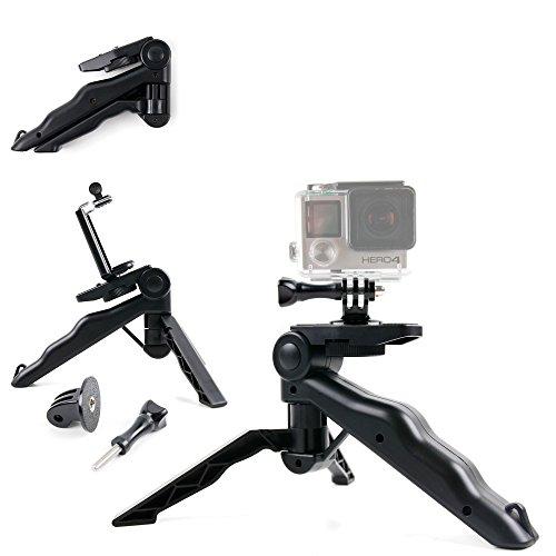 Support 2 en 1 poignée ergonomique / trépied pour Excelvan TC-DV6, TC-Y8, TC-J6, TC-Q5, Q6 et Eyes GO + adaptateur - DURAGADGET