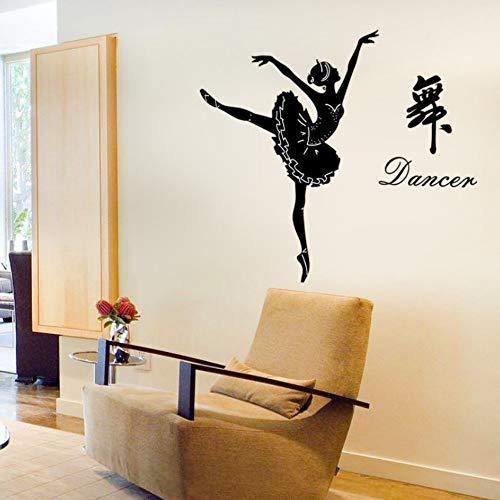Yzybz Chinesischen Charakter Tanz Mädchen Tanzen Abnehmbare Wohnzimmer Schlafzimmer Dekor Abziehbilder Wandbilder Selbstklebende Wandaufkleber Dekoration