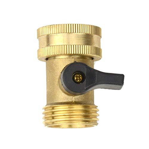 Fixations en laiton connecteur mâle avec valves individuelles on/off robinet de jardin adaptateur de tuyau 1