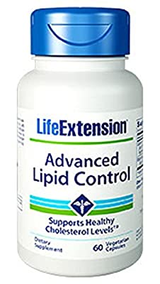 Life Extension Advanced Lipid Control (Supports Healthy Cholesterol Levels, 60 Vegetarian Capsules) by Life Extension