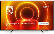 "Philips TV Ambilight 50PUS7805/12 50"" 4K UHD TV LED Processore P5 Picture, HDR10+, Dolby Vision∙Atmos, Sm"