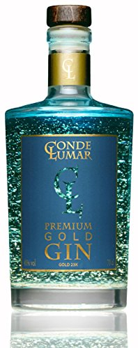Premium Gin 23-Karat Deutschland Blattgold - Mediterran Zitrus Botanicals und Juniper - Original Gintonic Luxus Geschenk - Natürliche Botanicals Gewürze und Wacholderbeeren - Ohne Geschenkverpackung