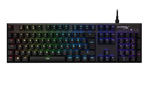 HyperX HX-KB1SS2-DE Alloy FPS RGB Gaming Tastatur, Kailh Silver Speed Switches (QWERTZ deutsches Layout)